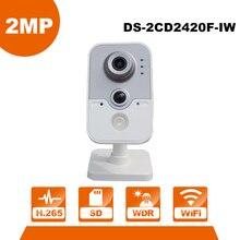 Anglais Version HIK WiFi Caméra DS-2CD2420F-IW 1080 P Wi-Fi de Sécurité À Domicile Caméra 2MP IR Cube Réseau CCTV Cam Bébé OEM IPC3412-W