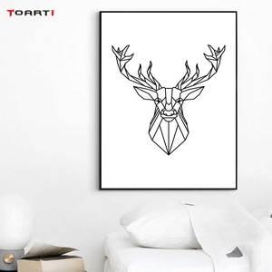 Image 5 - מינימליסטי בעלי חיים הדפסי כרזות נורדי צבי פרפר בד ציור על קיר לסלון חדר שינה בית תפאורה יצירות אמנות