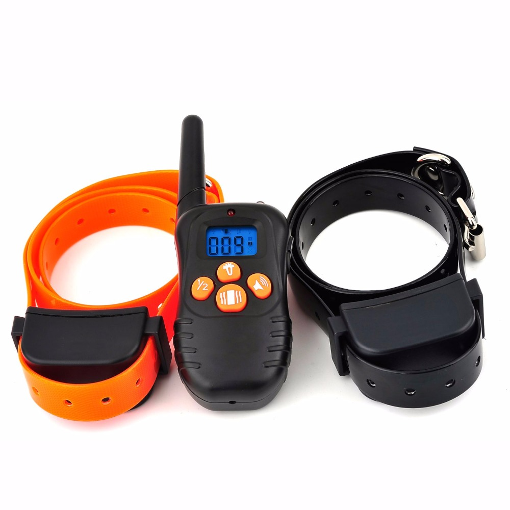 300m dog training collar pet trainer electric lcd dog remote collar anti bark rechargeable training device