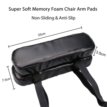 2pcs pu leather chair Armrest pad cushion soft memory foam Elbow pillow support pads protectot elbow brace rest cushion  black