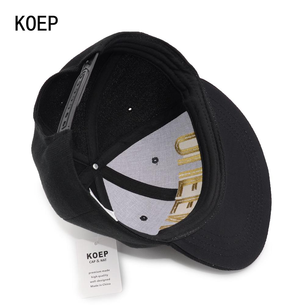 black snapback hat KOEP®-HHC-17-GQ-7