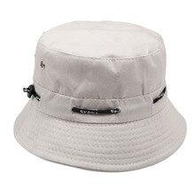 7d5d1678641 Summer Plain Bucket Hats Men Women Classic Caps Autumn Spring Fisherman  Panama Cotton Double Layer Fabric