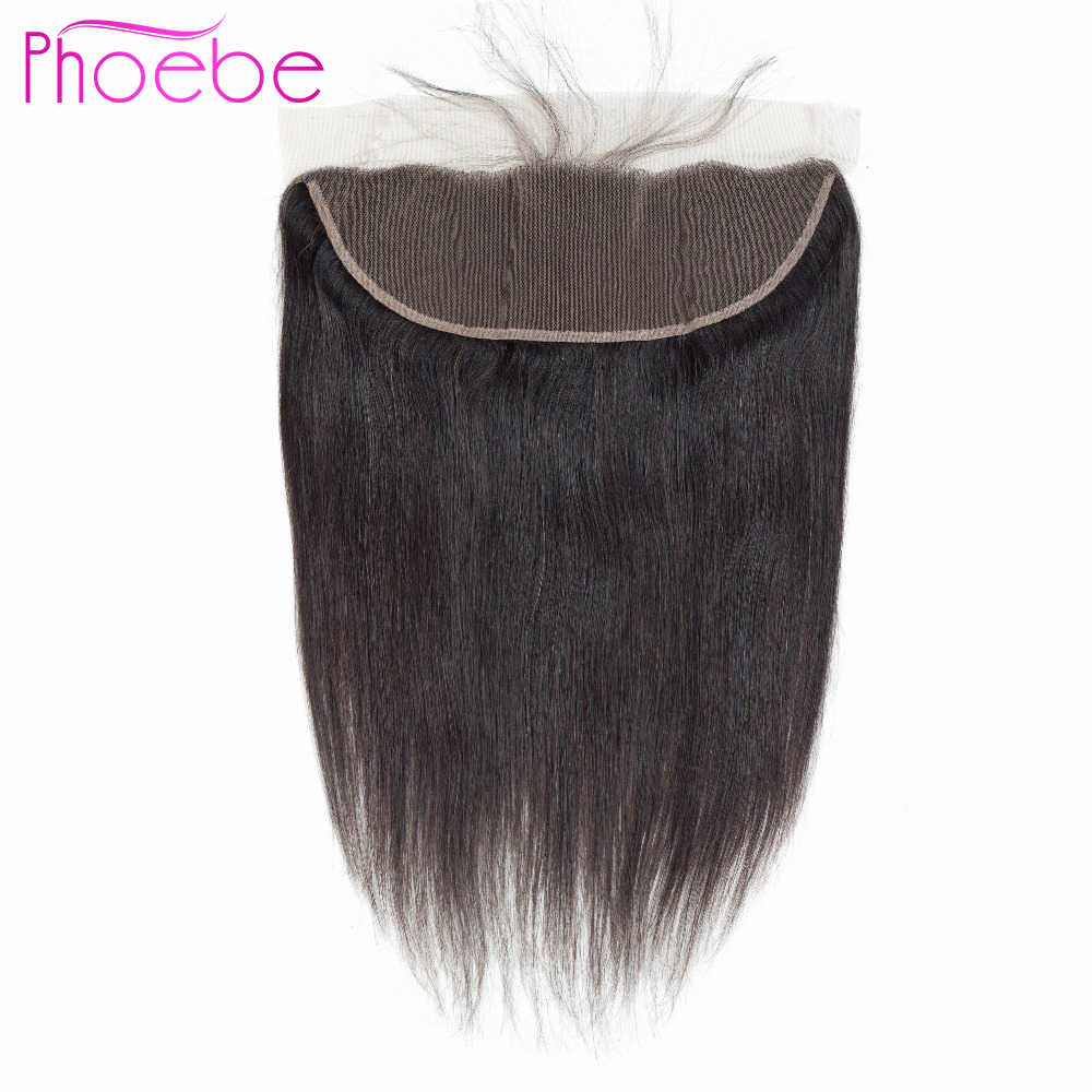 Phoebe Brazilian Straight Hair Weaving 13*4 Lace Frontal Closure With Baby Hair 100% Human Hair Extensions Non Remy Lace Closure