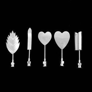 Image 4 - שזיף פרח 5 יח\סט 3D ג לי אמנות מחטי כלים ג לי עוגת ג לטין פודינג נחיר מזרק סט רוסית חרירים