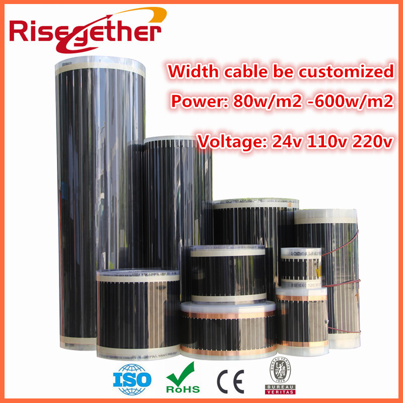 infrared carbon fiber underfloor radiant floor heat warm electric heating filmchina - Electric Radiant Floor Heating