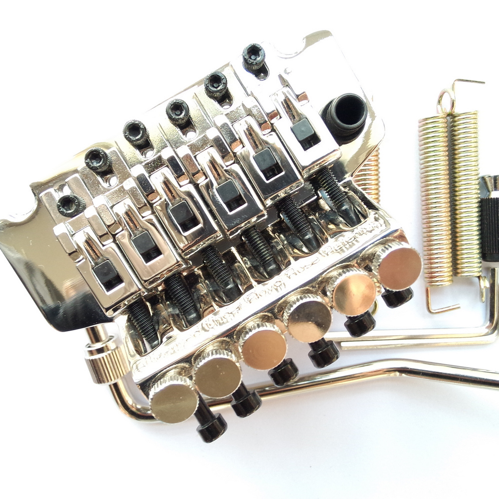 BL001 Electric Guitar Tremolo System Bridge  Chrome ( Without original packaging ) genuine original floyd rose 5000 series electric guitar tremolo system bridge frt05000 black nickel cosmo without packaging