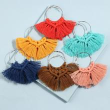 Macrame Earrings Tassel Handmade Bohemian Leaf Fringed  Jewelry for Women Girls Wedding Party Whloesale