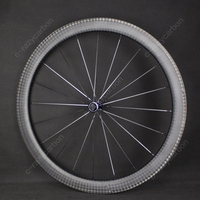 Free Shipping Road Bicycle 700C Aerodynamic Carbon Wheelset 50mm Full Carbon Clincher Road Bike