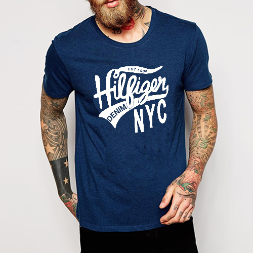 DANDY Mens Short T-shirt Vintage DENIM STYLE MENS O-neck Tee Denim jones Mens Clothing High quality
