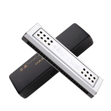 Free shipping C,G 24 hole harmonica,  the 24 hole double classic learning and playing mouth organ
