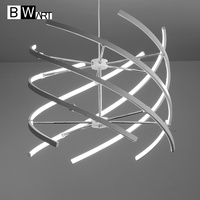 BWART aluminum LED pendant chandelier loft light decoration Line hanging chandelier lamp lighting for dining office meeting room
