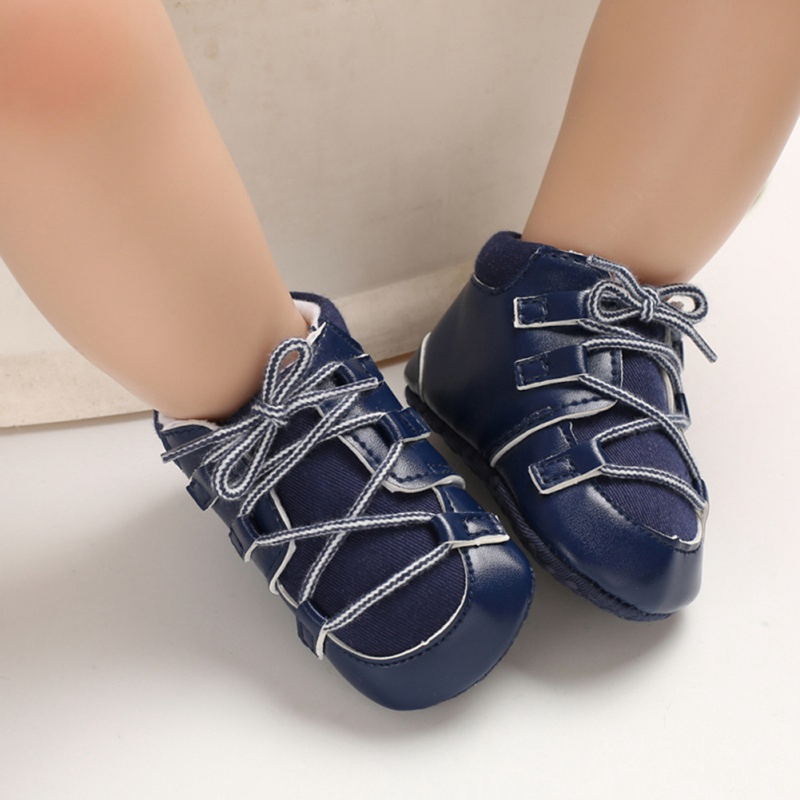 Baby Shoes Newborn Baby Walker PU Sneaker Sport Shoes For Girls Boys Shoes Infant Child Soft Bottom Anti-slip First Walkers