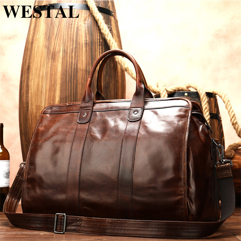 WESTAL Men's Briefcase/laptop Bag For Men Messenger/office Bag Men Leather Business Men's Bag Men's Leather Briefcase Handbag