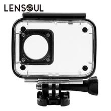 lensoul Waterproof Case Shell Underwater Snorkeling Protective Housing for Xiaomi Yi 4 K Xiaoyi 2 Sports Camera