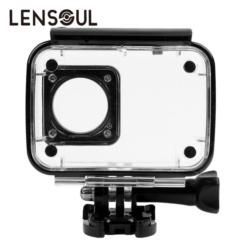 lensoul Waterproof Case Shell Underwater Snorkeling Protective Housing for Xiaomi Yi 4 K Xiaoyi 2 Sports Camera