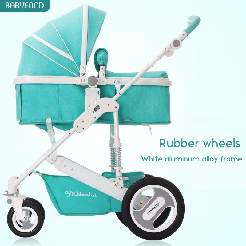 Fast Delivery In stock! Aluminium alloy frame  Four wheels fold baby strollers big wheels four season use 21 color free gifts accelerating road infrastructural delivery in ghana