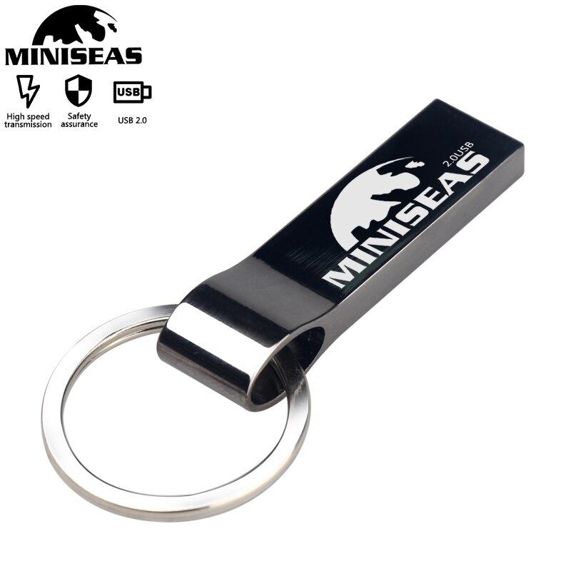 Miniseas metal usb flash drive 4gb 8gb pen 16gb drives 32gb memory stick 64gb key chain pendrive
