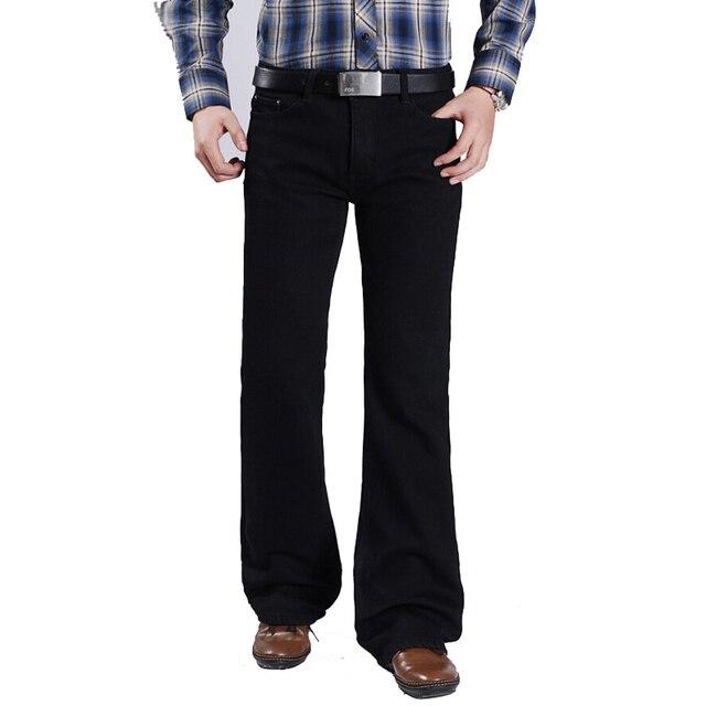 759913be34019 Frete Grátis Masculina Mais Grossa de Veludo Fundo Sino Calças Jeans Flares  Magro Calça Jeans Boot