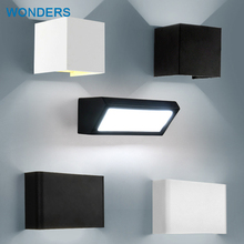 hot deal buy  modern led wall lamps acrylic bed room rectangular wall light living sitting room foyer bathroom led wall mounted sconce ac220v
