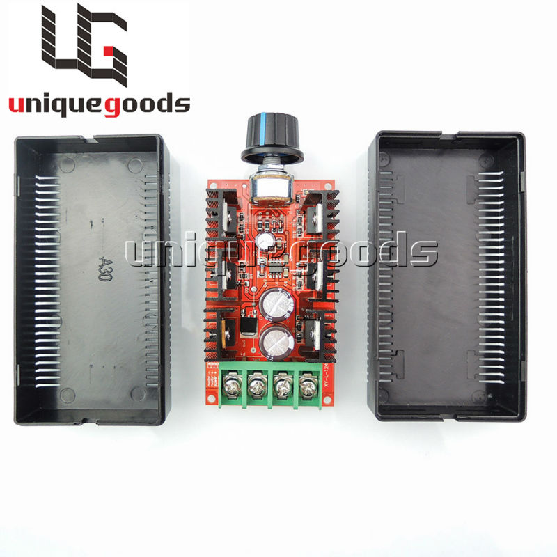 Free Shipping 12V 24V 48V 2000W MAX 10-50V 40A PWM HHO DC Motor Speed Control RC Controller Manufacturer Direct Supply