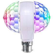 Best Promotion E27 Rotating KTV Bar Disco Party Decor Lamp 3W Double Headed RGB LED Ball Stage Effect Lighting