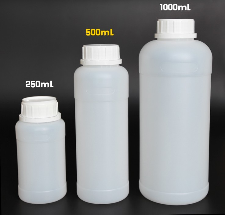 Free shipping 20pcs 500ml liquid oil plastic bottle HDPE 16oz PE empty plastic containers chemical bottle