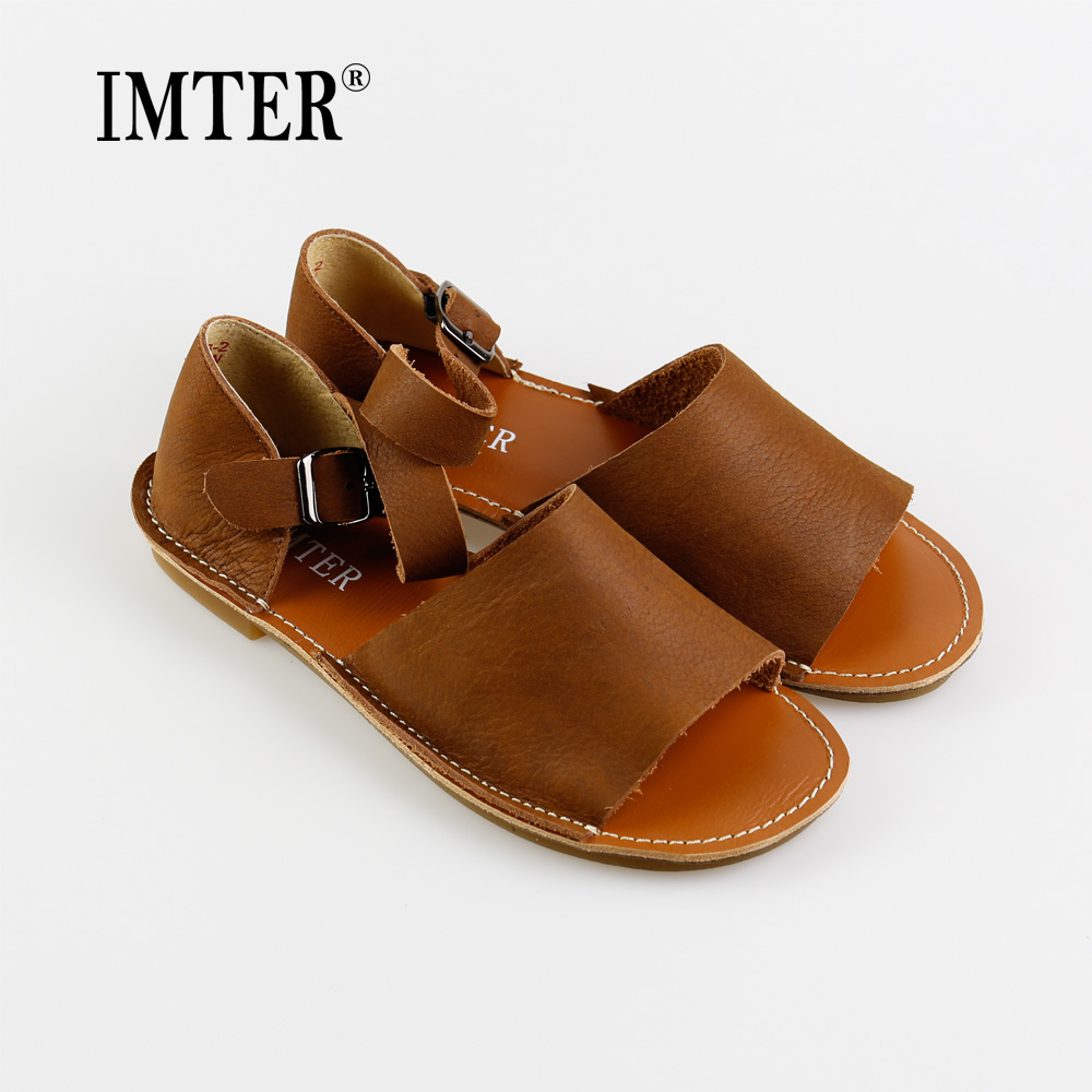 Unique ASYSPLNX Summer Fashion Narrow Band Cow Leather Women Sandals Flats Casual Ladies Shoes Womens ...