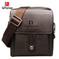 Brand Logo ! Casual Mens Split Leather Messenger Bags Small Shoulder Bag For Men Crossbody Bag Black Brown WA71342
