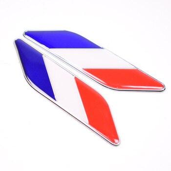 10 sets France French Flag Car Fender Emblem Badge Decal Sticker For Mercedes Benz Ford Focus Chevrolet Peugeot etc