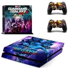 Guardians of the Galaxy Vol. 2 Vinyl Decal Protective Skin Cover Sticker for Sony PS4 Console And 2 Dualshock Controllers