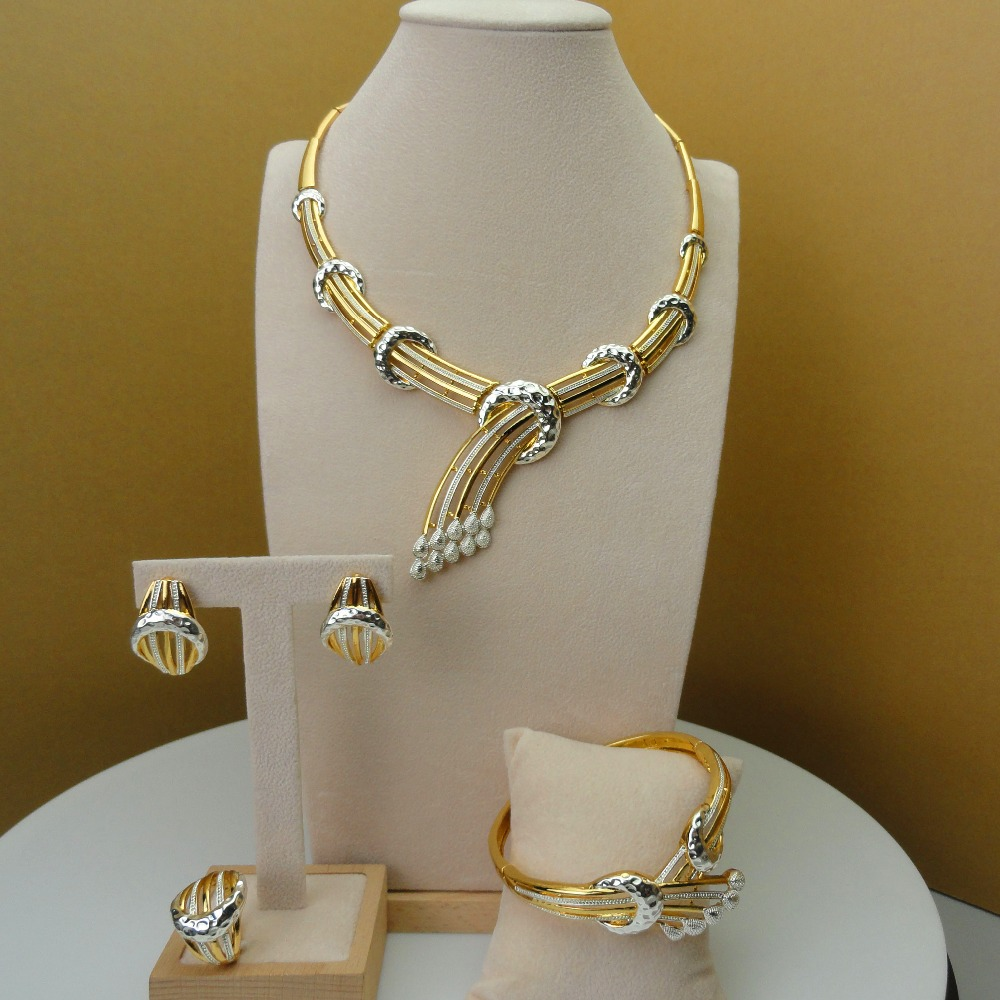 2019 Yuminglai afryki biżuteria dubaj Cosume zestawy biżuterii sztuczna biżuteria dla kobiet FHK5699 w Zestawy biżuterii od Biżuteria i akcesoria na  Grupa 1