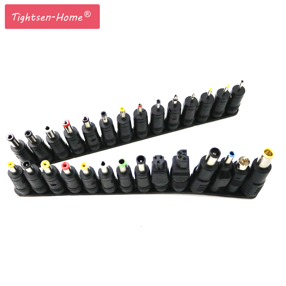 28 pcs/set Universal 28pcs DC Power 5.5x2.1mm AC DC Jack Charger to 28 Plug Power Adapter for use Notebook Laptop High Quality universal 28pcs 5 5x2 1mm multi type male jack for dc plugs for ac power adapter computer cables connectors for notebook laptop