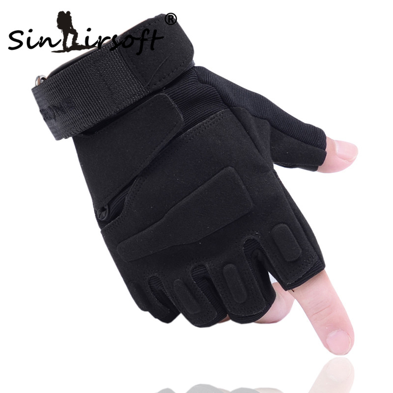 Outdoor Paintball Tactical Climb Gloves Hiking Sport Military Fingerless Airsoft Gloves Men's Cycling Half Finger Combat Gloves