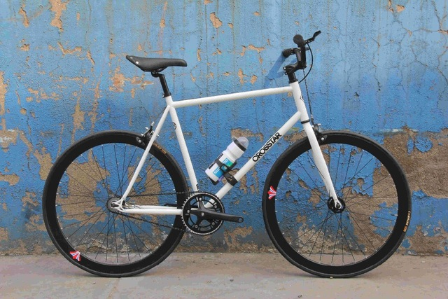 52CM Frame Road Bicycle Fixed Gear Bike DIY Complete 24 Speed Road Bike, Retro Frame Plating Frame