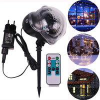 Christmas Snowflake Projector Lights Moving LED Snowfall Projection Lamp Outdoor Waterproof Landscape Decorative Party Lighting