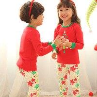 2017 Christmas Kids Pajama Sets High Quality Christmas Pajamas 2 7Yrs Baby Boys Girls Clothes Children