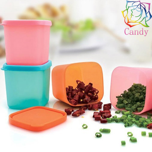 3pcs Kitchen must-have free shipping mini 230ml fresh-keeping box small plastic food container microwavable frozen