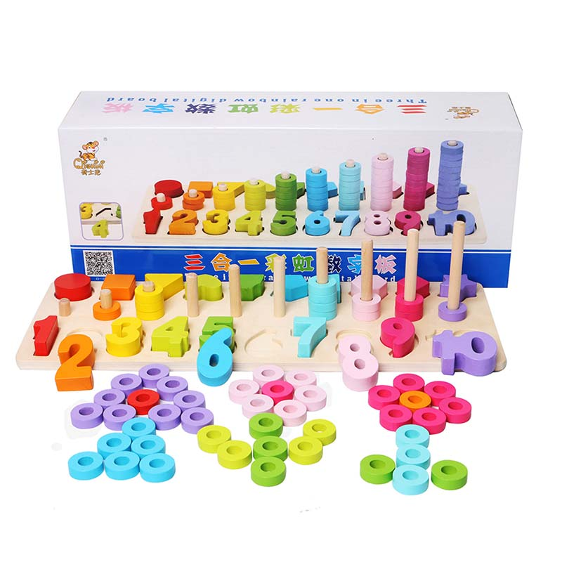 Baby Toys 24 Months Soating Nesting Toddler Toys Figure Nature Puzzle Wooden 2-4 Years Baby Games Wood Educational Toys Game