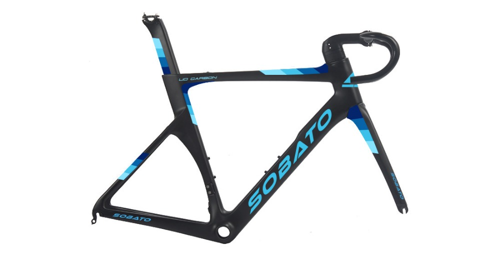 цена на SOBATO Newest T800 Toray Carbon Time Trial Triathlon Bike Frame Fork Seatpost TT Frame 56cm