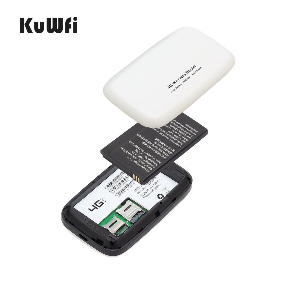 Image 5 - KuWfi разблокированный 150 Мбит/с 3G 4G LTE Wifi роутер мобильный Wifi точка доступа 2400 мАч батарея со слотом для sim карты ЖК дисплей до 10 пользователей-in 3G/4G маршрутизаторы from Компьютер и офис on AliExpress - 11.11_Double 11_Singles' Day