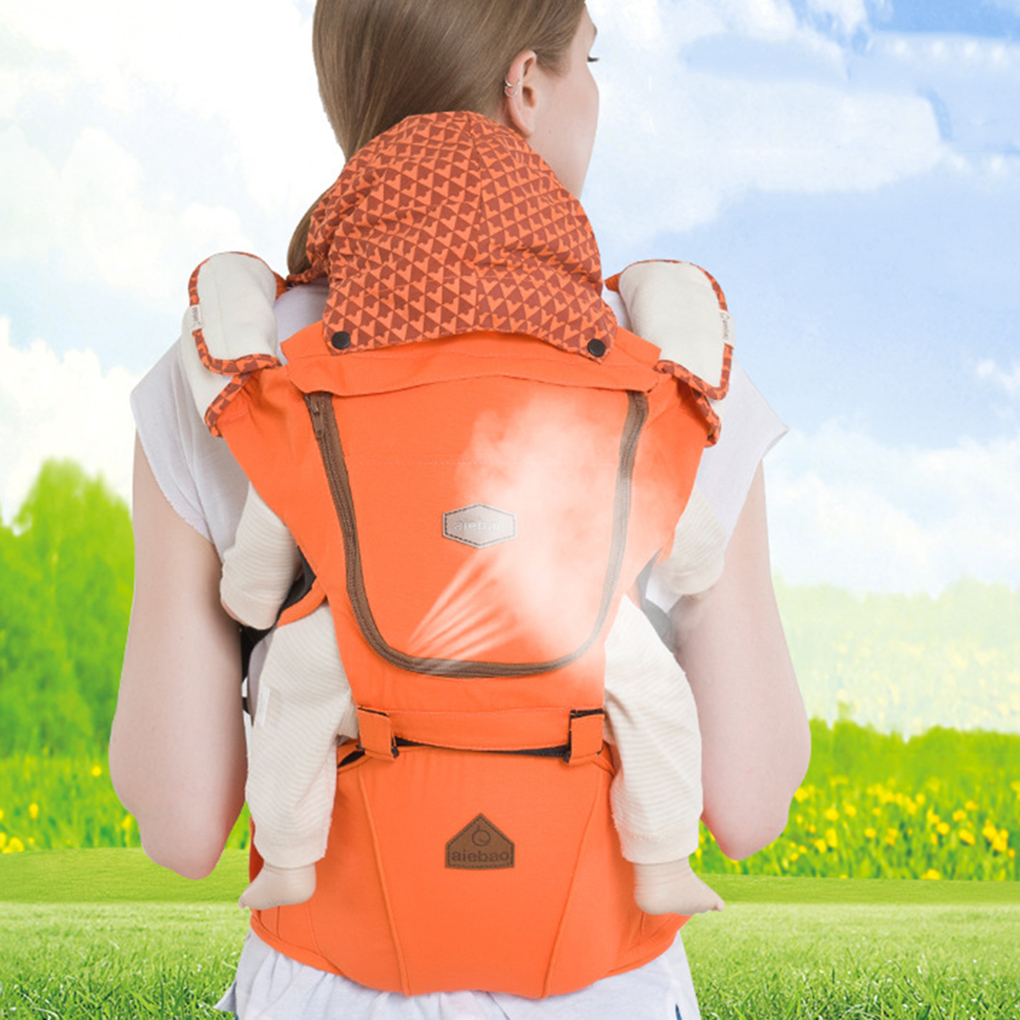 Aiebao All Carry Positions Ergonomic Baby Carrier Backpack with Hip Seat Front and Back Breathable Backpacks Carrier A6618