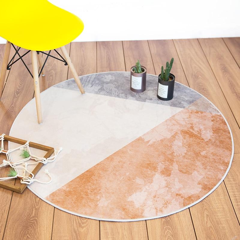 Tapis rond Style minimaliste nordique Loartee chambre salon cuisine salle d'étude décoration de la maison tapis tapis de chambre d'enfants Tapetes - 2