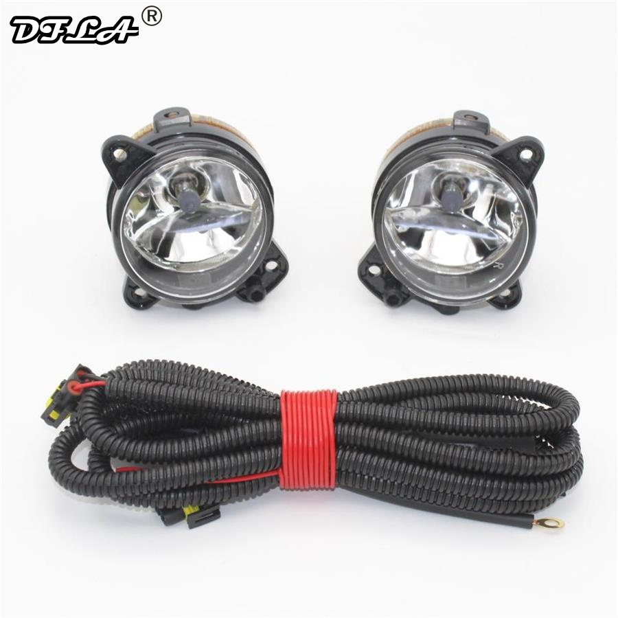 For VW Transporter Multivan Caravel T5 2003 2004 2005 2006 2007 2008 2009 2010 Car-Stying Front Bumper Fog Lamp Fog Light + Wire for opel astra h gtc 2005 15 h11 wiring harness sockets wire connector switch 2 fog lights drl front bumper 5d lens led lamp