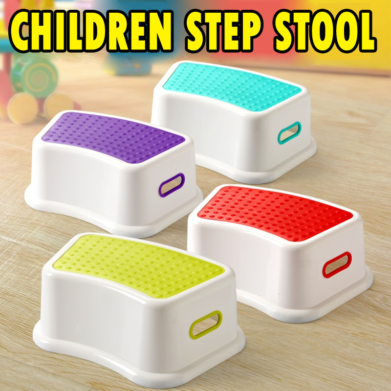 Children Multifunctional Footrest Infant Stool Baby Boys Girls Non-Slip Foot Stool Chair Kids Toilet Supporting Stool