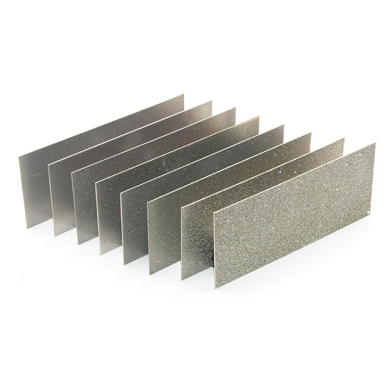 6 Pc Flat Diamond Plate Sharpening Block Tool Set Sharpener Stone