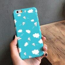 Голубое небо и белые облака Бумажный Самолетик Самолет Твердый Переплет Case для iphone 6 6 s plus 7 7 Плюс case бесплатная доставка