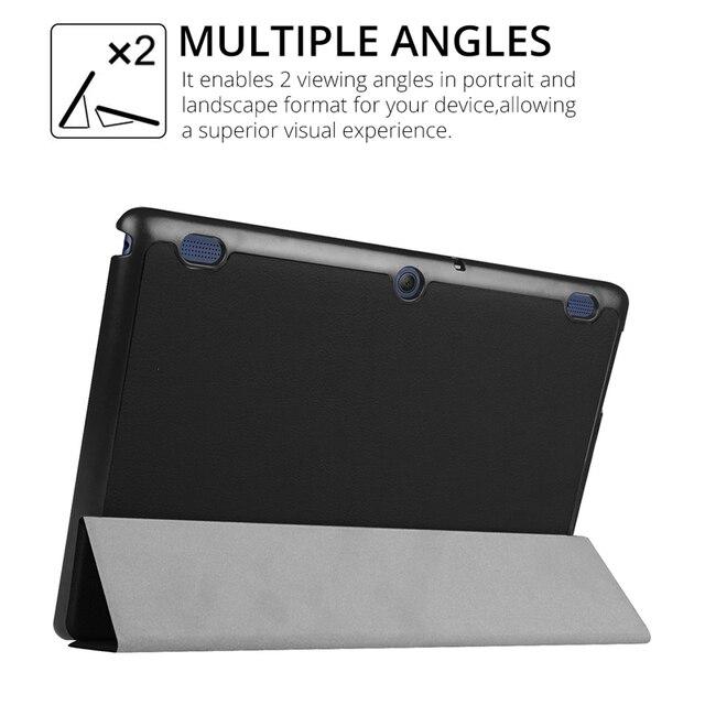 Slim Folding Flip Cover Stand PU Leather Case for Lenovo Tab 2 A10-30 A10-70 A10-70F A10-70L X30F 10.1 inch Tablet Case+Film+Pen 2