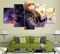 5 Panels Wall Art Anime Lucifer Kurapika Hunter x Hunter Paintings Art Wall Decor Canvas Unframed