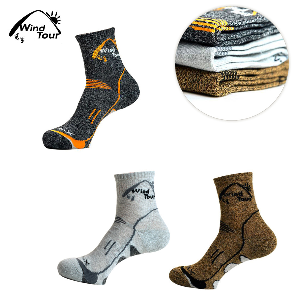 Wind Tour Unisex Thermal Running Winter Warm Sport Socks Mens & Womens Outdoors Comfortable Soccer Sock Coolmax Well Sell