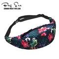 Ventas al por mayor de FLORES SILVESTRES Impresión 3d Paquete Bolso de La Cintura de Las Mujeres de Alta Calidad Riñonera Bumbag Cinturón de Dinero Casual Travelling Bag 2016